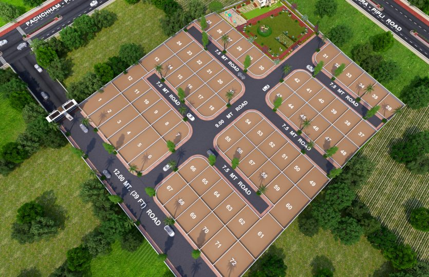 layout Mulberry court